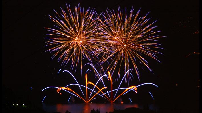Fuochi d'artificio, un lago di allegria!