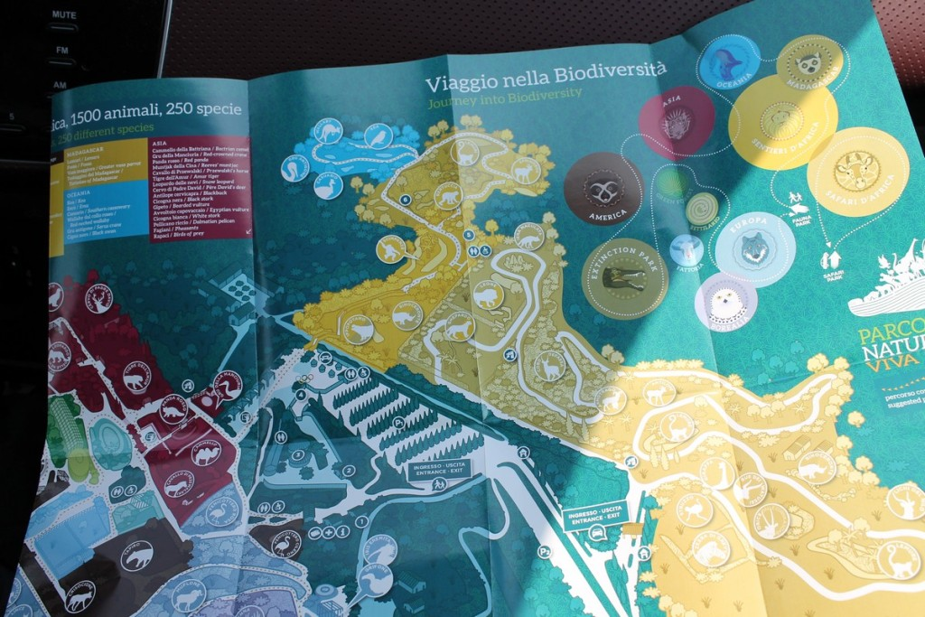 Parco Natura viva Mappa