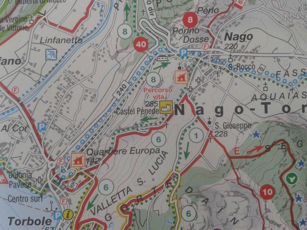 mappa castel penede