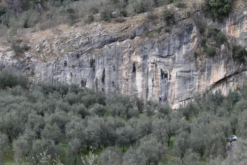 parete arrampicata
